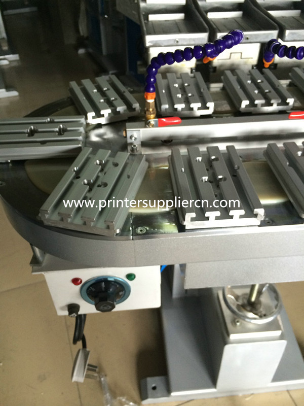 Two Colors Open Tray Carousel Pad Printer Machinery