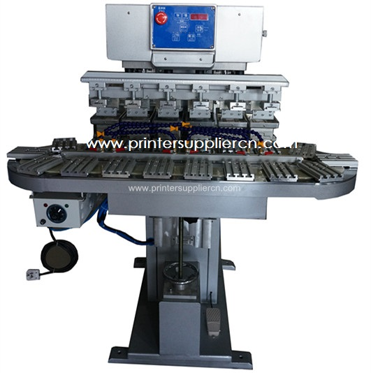 Six Colors Pad Print Machine with Conveyor