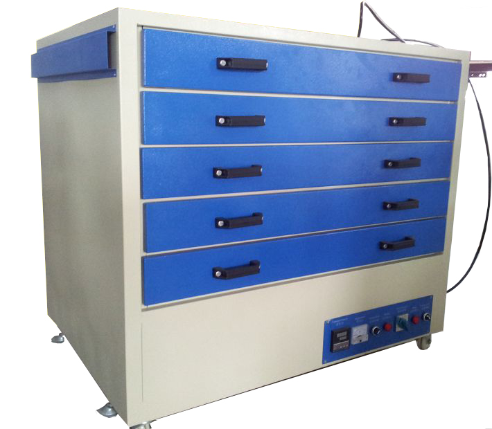 Drawer style screen drying machine