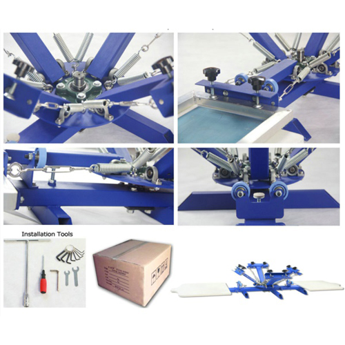 4 Colors 2 Stations T Shirt Screen Printing Machine