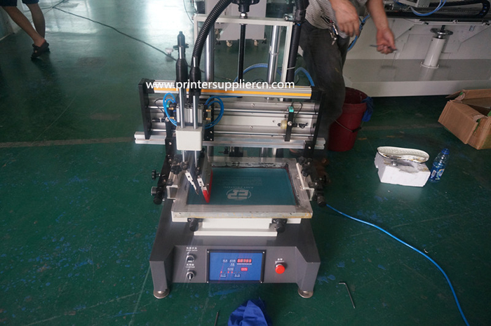 Mini flat screen printing machine factory