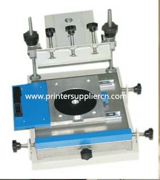 Manual screen printing machine for DVD and CD
