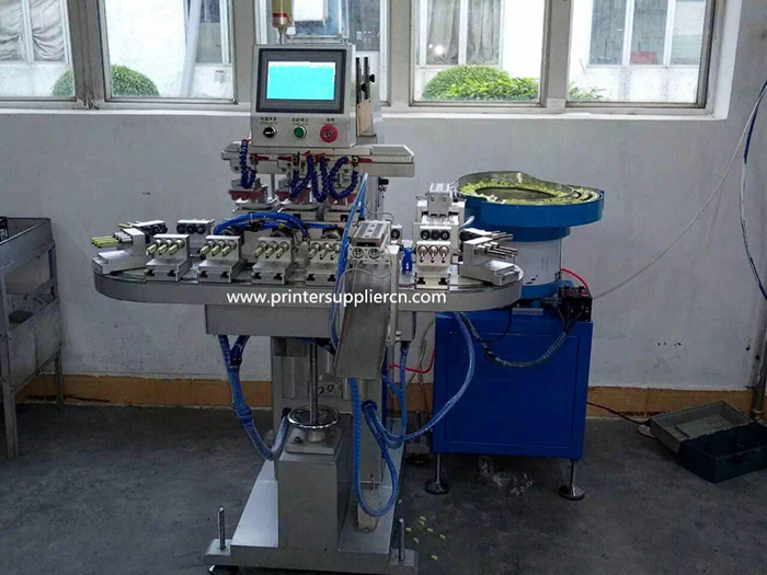 Automatic Four color Pad Printing Machine for Fuse,Diode Pad Printing Machine
