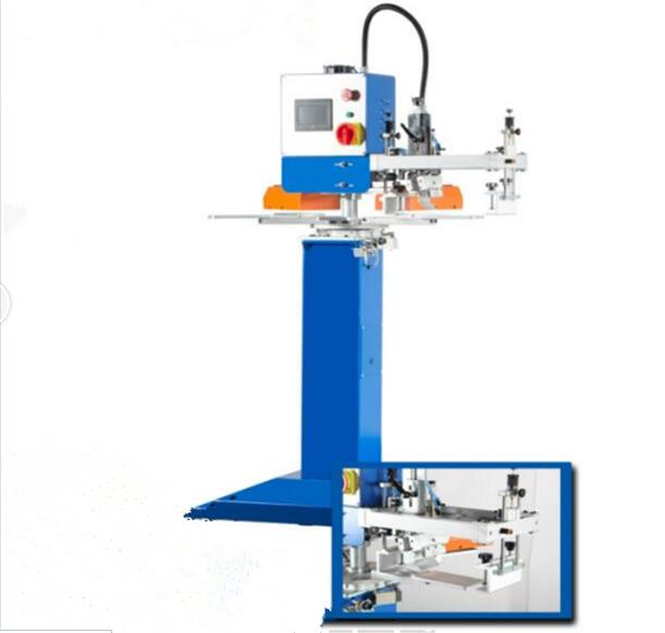 Semi Automatic one color five station screen printer for T-shirt
