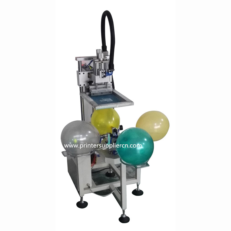 Semi-auto Balloon Screen Printer Machine with Four Workstations