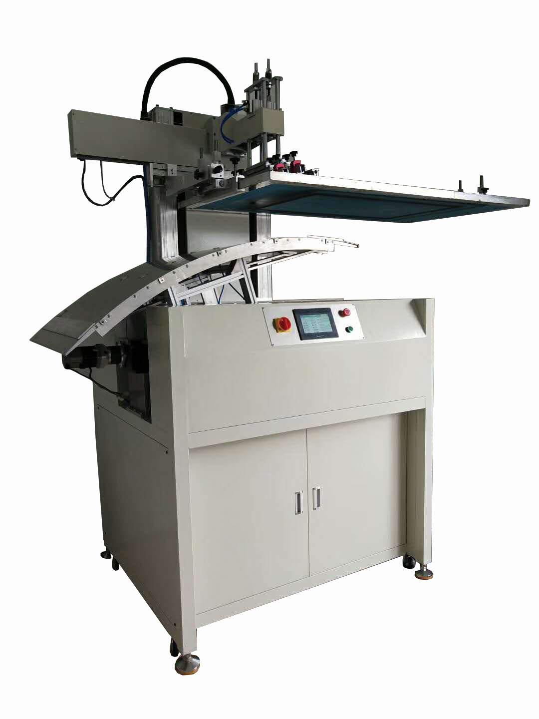 Automatic screen printing machine for Arc glass sheet