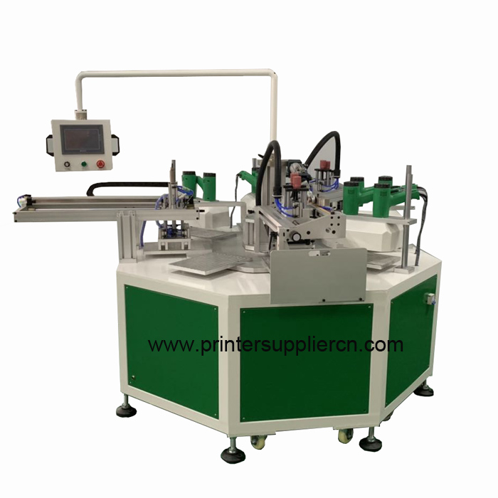 Automatic two colors screen printing equipment for ruler