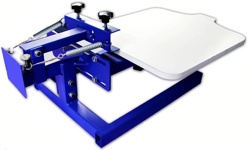 Manual One Color Screen Printing Press with Adjustable Pallet