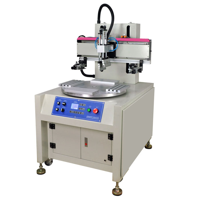 Automatic Flat Bed Screen Printing Machine with 4 Workstations for Manufacturer