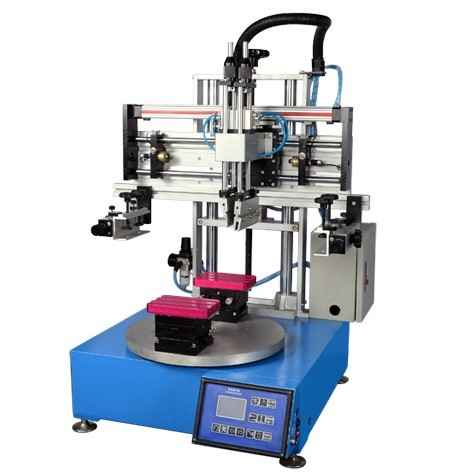 Tabletop 2 Stations Rotary Screen Printing Machines Price